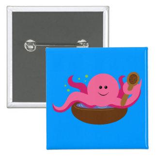 Octopus Soup Pinback Button