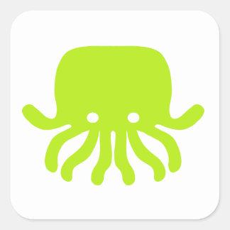 Octopus Square Sticker