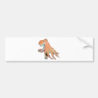 Octopus Squid Kraken Painting Bumper Sticker