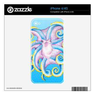 Octopus Stained Glass Decal For The iPhone 4