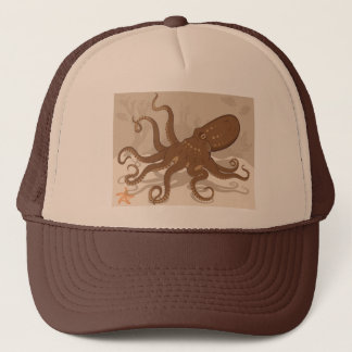 Octopus Starfish Coral Reef Trucker Hat