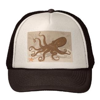 Octopus Starfish Coral Reef Trucker Hats