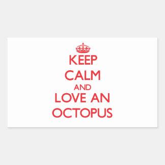 Octopus Rectangular Stickers