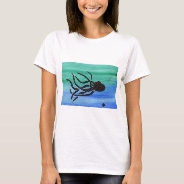 Beach Themed Octopus T-Shirt