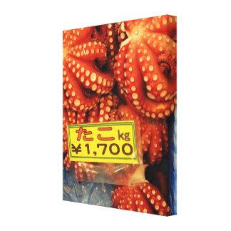 Octopus | Tako たこ Tsukiji Fish Market Canvas Print