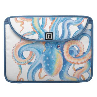 Octopus Tentacles Blue Art MacBook Pro Sleeve