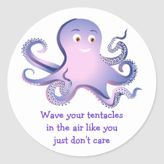 Octopus Tentacles Classic Round Sticker