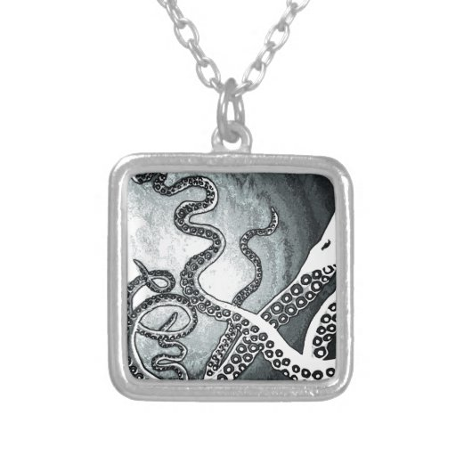 Octopus Tentacles Personalized Necklace