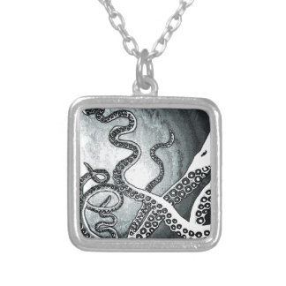 Octopus Tentacles Silver Plated Necklace