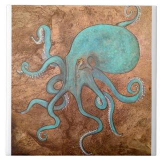 Octopus Tile backsplash