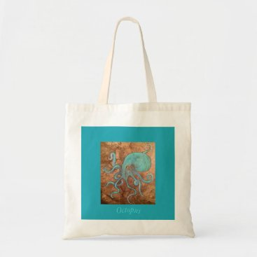 Beach Themed Octopus! Tote Bag