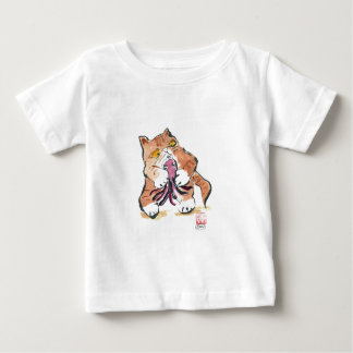 Octopus Toy and Tiger Kitty, Sumi-e Baby T-Shirt