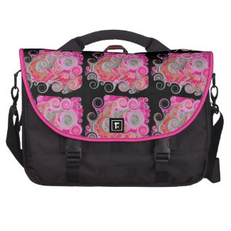 Octopus Tracks - Hot Pink Laptop Commuter Bag