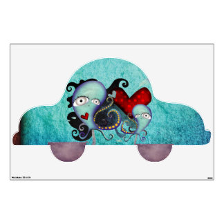 Octopus Traveling Wall Decal