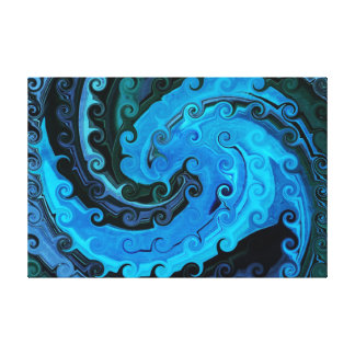 Octopus Under The Sea Abstract Wrapped Canvas Canvas Print