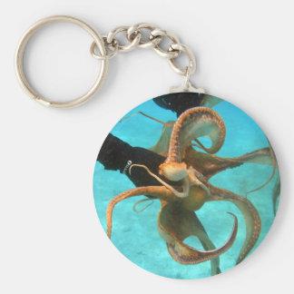 Octopus underwater keychain