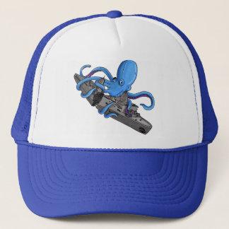 Octopus VS. Oil Tanker Trucker Hat