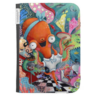 Octopus Waitress in Underwater Road Bar Kindle 3G Covers