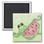 Octopus & Watermelon 2 Inch Square Magnet