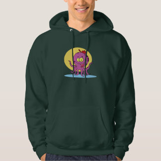 Octopus Wearing A Red Ball Cap Mens Hoodie