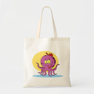 Octopus Wearing A Red Ball Cap Tote Bag