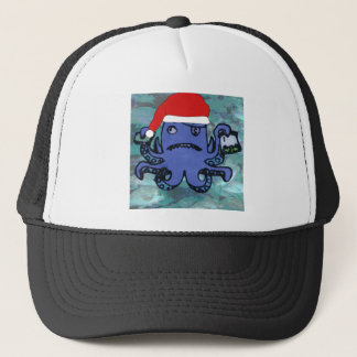 Octopus Wearing Santa Hat