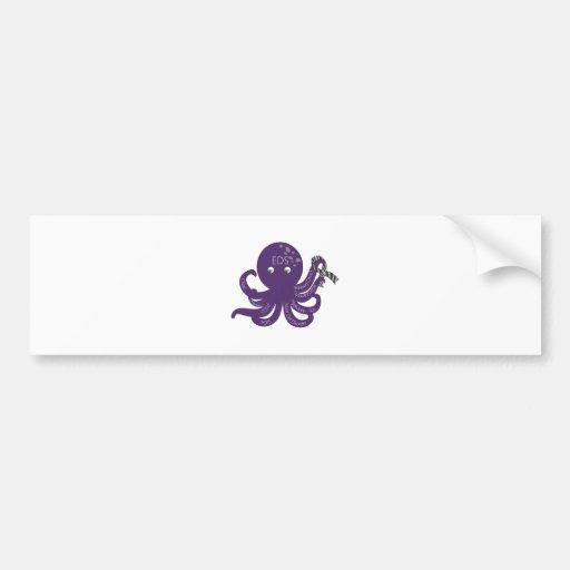 Octopus White Back Ground Bumper Sticker