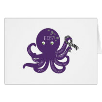 Octopus White Back Ground Card