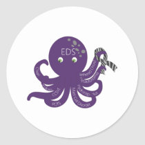 Octopus White Back Ground Classic Round Sticker