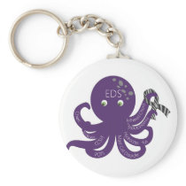 Octopus White Back Ground Keychain