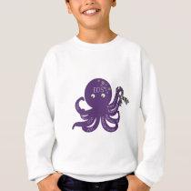 Octopus White Back Ground Sweatshirt