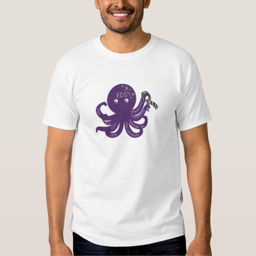 Octopus White Back Ground T-Shirt