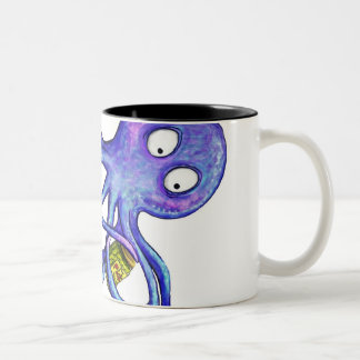 Octopus with a pickle jar mugs