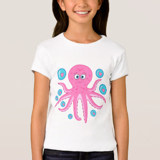 Octopus with Hearts and Bubbles T-Shirt