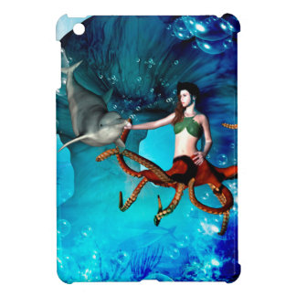 Octopus women with dolphin cover for the iPad mini