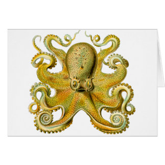 Octopus Yellow Greeting Card