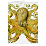 Octopus Yellow Greeting Card