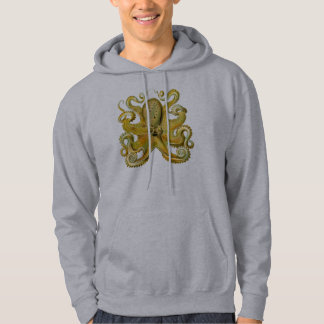 Octopus Yellow Hooded Pullover