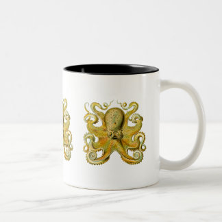 Octopus Yellow Two-Tone Coffee Mug