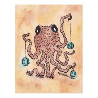 Octopus & Yo-Yo Postcard