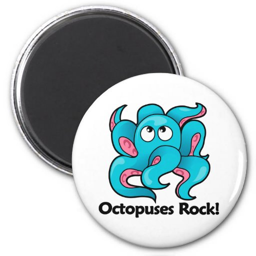 Octopuses Rock! Magnets