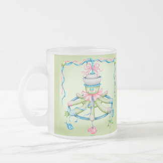 OCTOPUSS  BABY CARTOON Frosted Glass Mug 10 onz