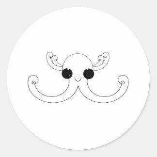 Octopuss Classic Round Sticker