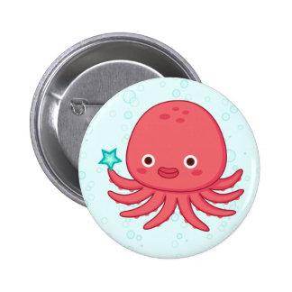 Octopus's Got Star 2 Inch Round Button