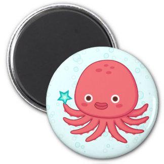 Octopus's Got Star 2 Inch Round Magnet