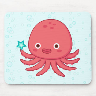 Octopus's Got Star Mouse Pad