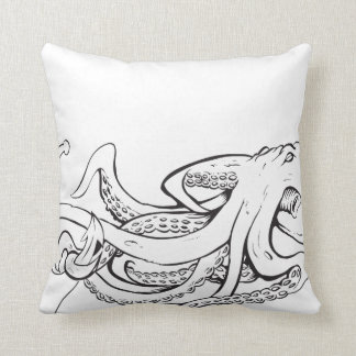 Octopuss With Anchor - Pillow! Throw Pillow