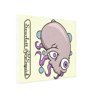 Octoskryll Stretched Canvas Print