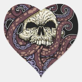 Octoskull Heart Sticker