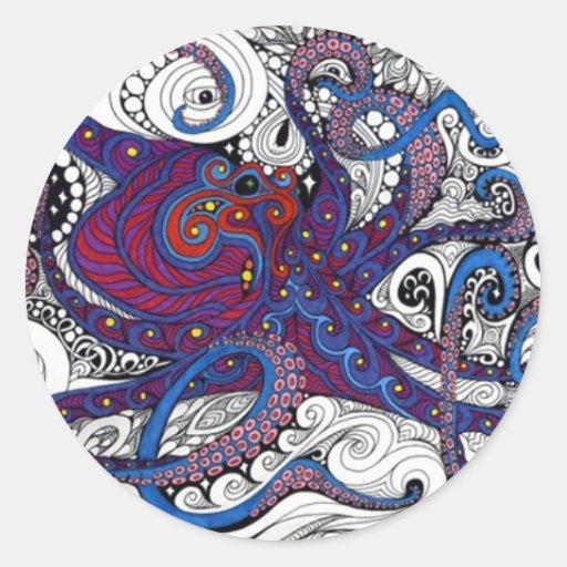 octpus! classic round sticker